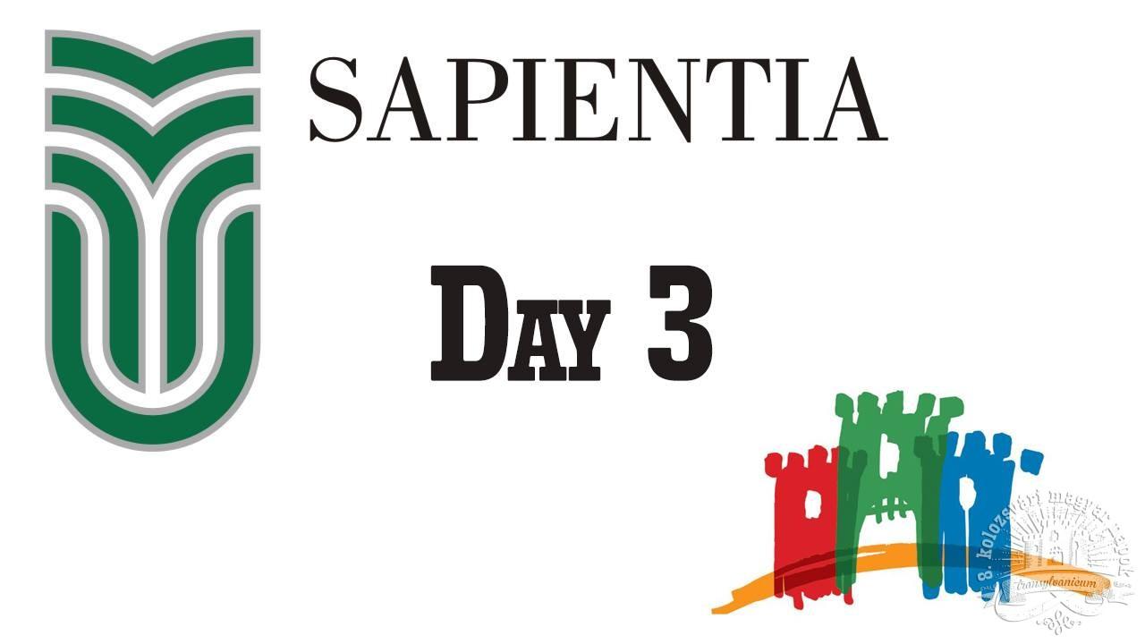 8. KMN – Sapientiás diákok harmadik napi összefoglalója