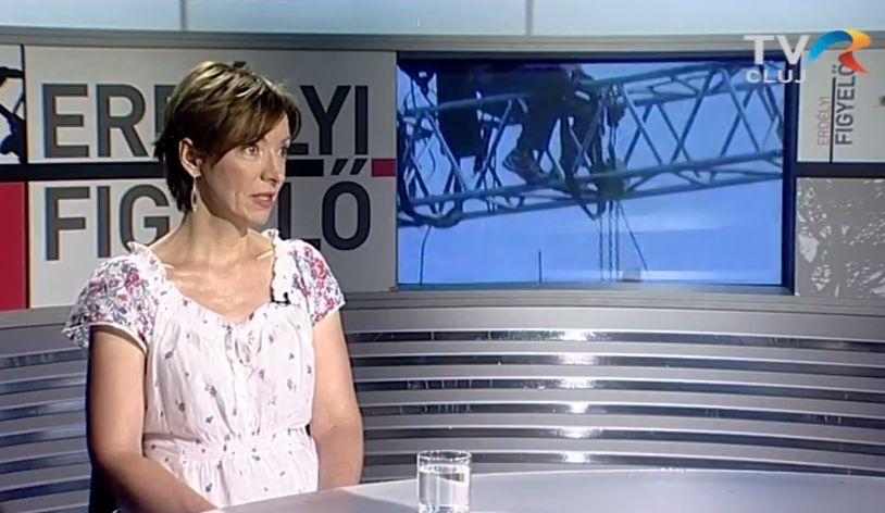 Szabó Lilla programigazgató volt a Kolozsvári Televízió vendége
