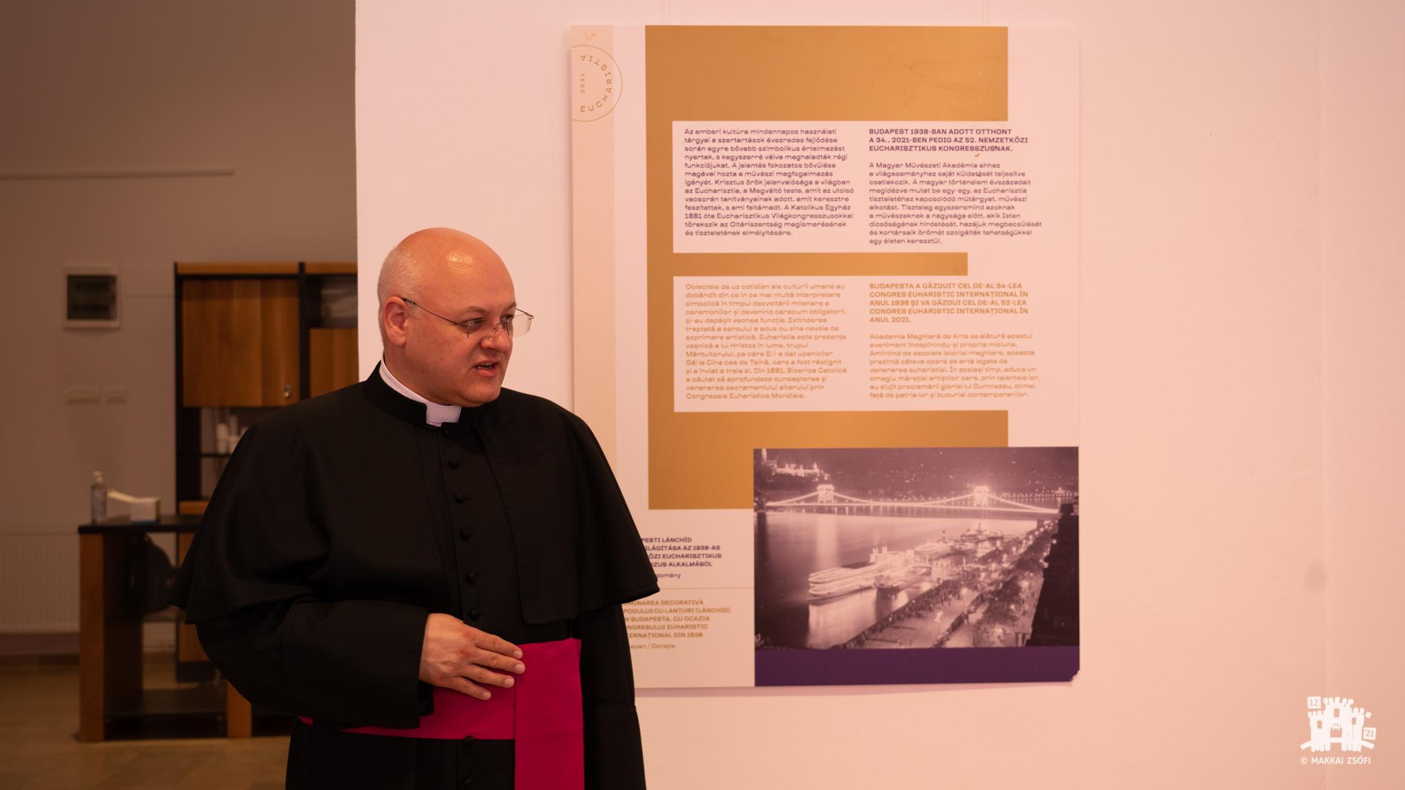 NEK2020 Vernisajul expoziției realizate cu ocazia Congresului Internațional Eucaristic